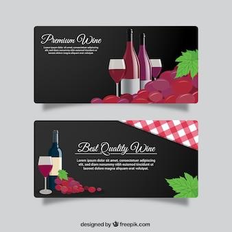 Striscioni vino elegante