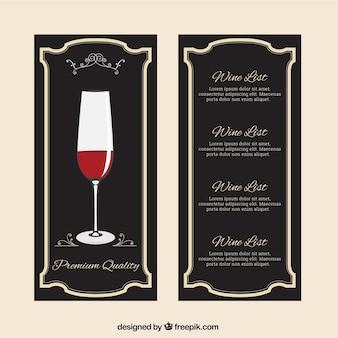 Элегантный список вин