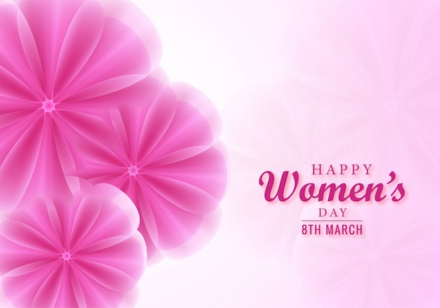 우아한 여성의 날 인사말 카드