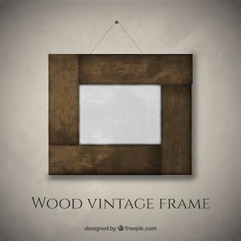 Elegant wooden photo frame