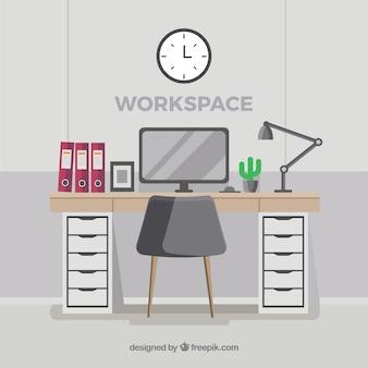 Элегантный фон рабочего пространства