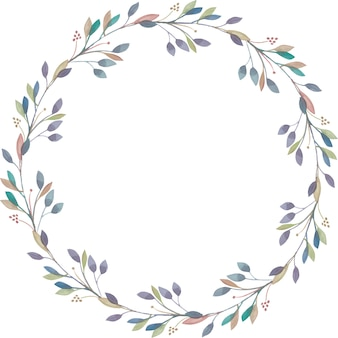 Elegant wreath from watercolor branches