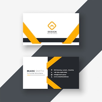 Business vectors photos and psd files free download elegant yellow business card template reheart Gallery