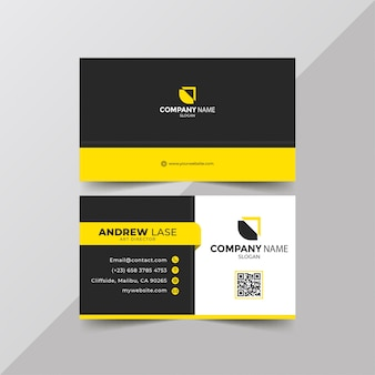 Elegant yellow business card