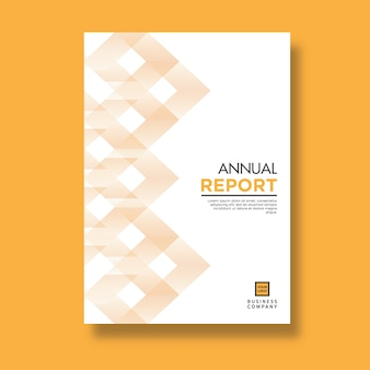 Elegant yellow pattern design annual report