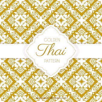 Elegant yellow thai pattern