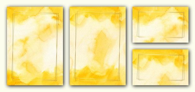 Элегантный желтый шаблон свадебного приглашения