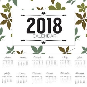 изящный 2018 календаря desgin