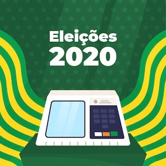 Eleições for bazil illustration with flag