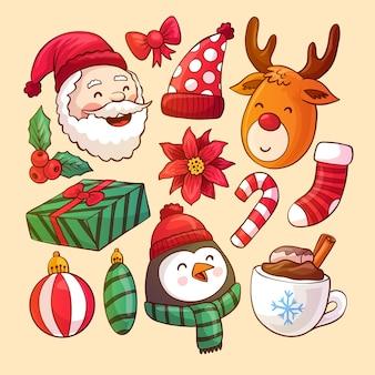 クリスマステーマの要素コレクション