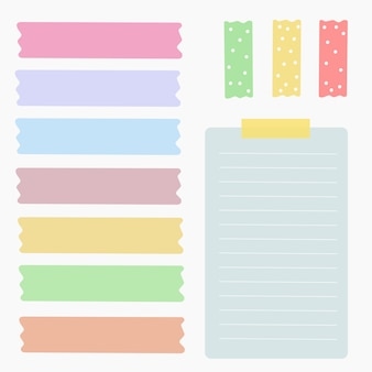 Element colorful paper vector set
