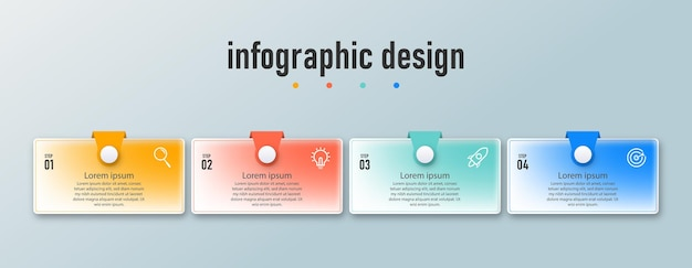 Element infographic design template timeline steps options can be used for workflow transparent