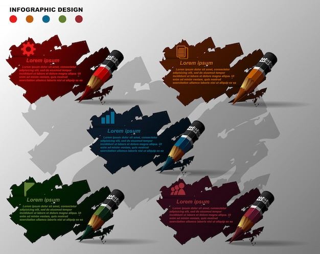 Element of infographics design template.