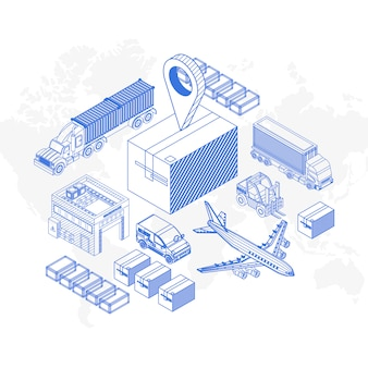 Элементарные иконки для концепции доставки