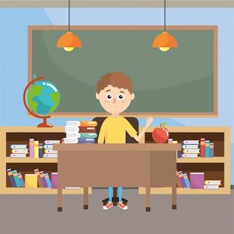Elementary school cartoon