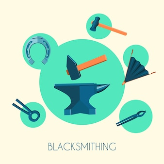 Elements about blacksmithing