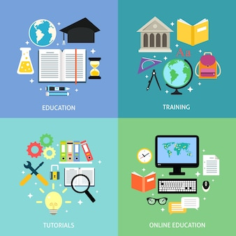 Elements about education for infographics