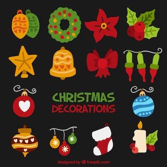 Elements for christmas celebration decoration