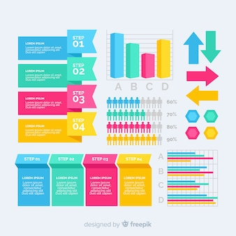 Elements collection of marketing strategy template