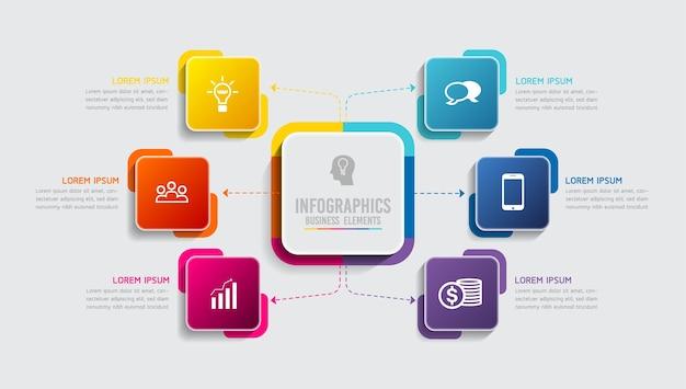 Элементы для представления инфографики и диаграммы шаги или варианты процессов количество шагов шаблона рабочего процесса