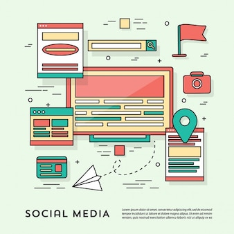 소셜 네트워크를위한 요소