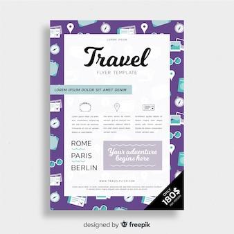 Elements frame travel flyer
