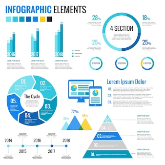 Elements for infographics