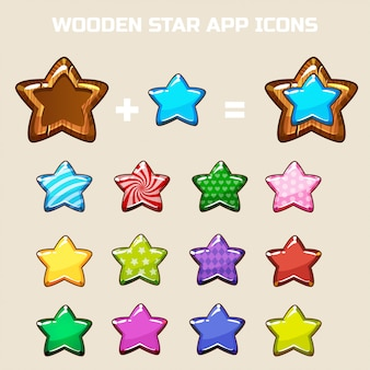 Elements for making your own star, constructor