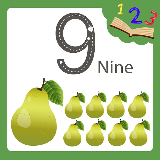 Elements of nine number pear