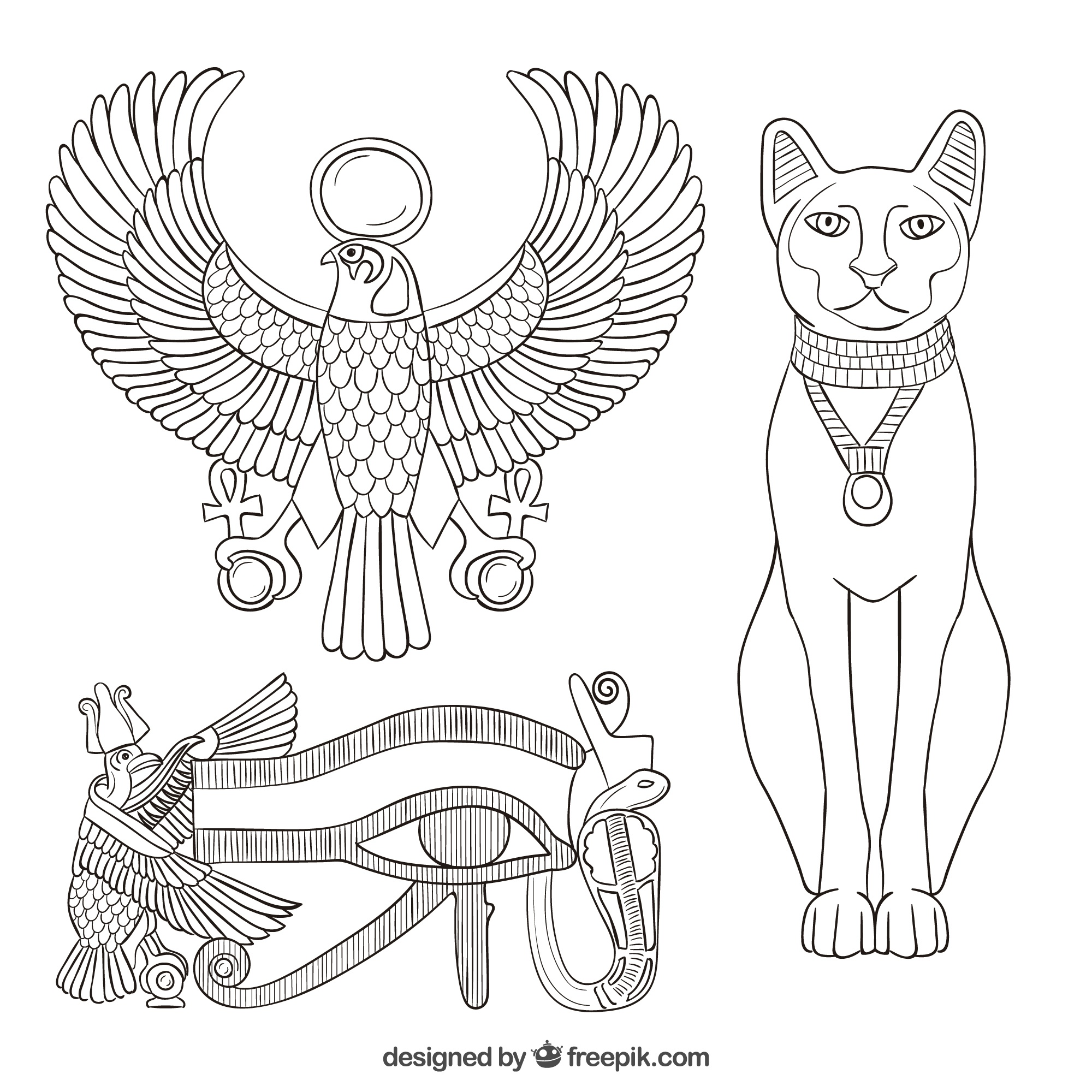Elements of the ancient egypt