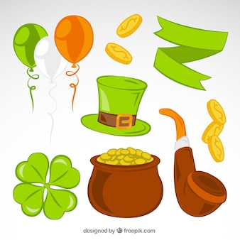 Elements of saint patricks day