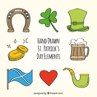 Elements set of saint patrick