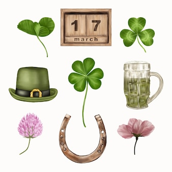 Elements for st. patrick's day