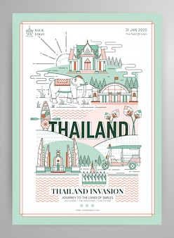 Elements of thailand poster layout