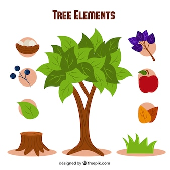 The elements of the tree