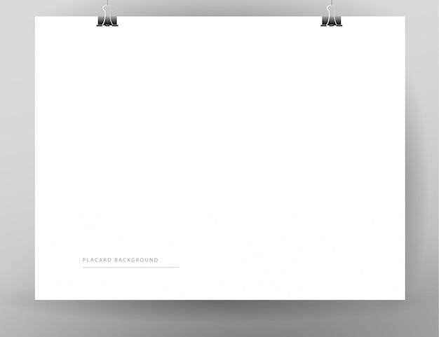Элементы: белый пустой лист бумаги