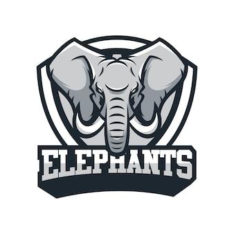 Elephant animal sport mascot head logo vector Premium Vector