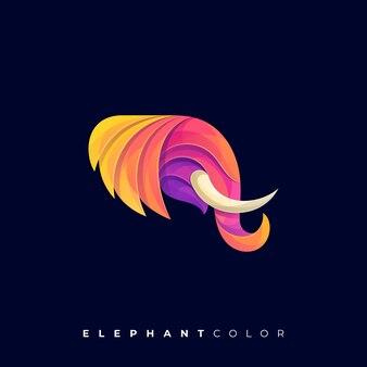 象のカラフルなロゴ