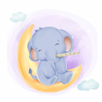 Elephant cute animal baby for kids
