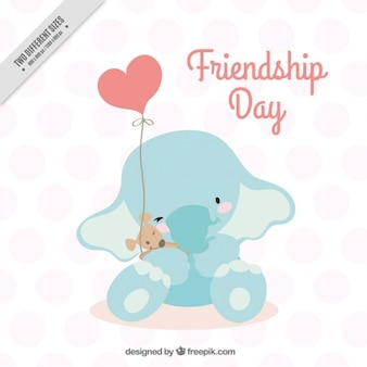 Design elephant per giorno amicizia