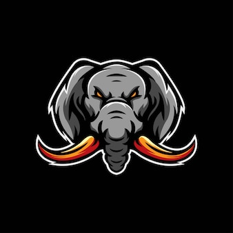 Шаблон логотипа elephant e sports