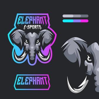 Elephant esports mascot logo