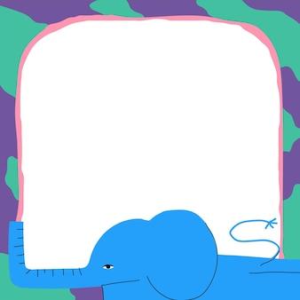 코끼리 프레임 벡터 귀여운 동물 그림
