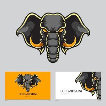 Elephant head sport logo