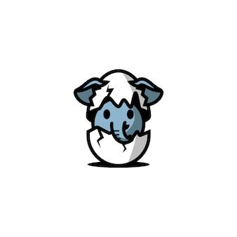 卵のキャラクターの象