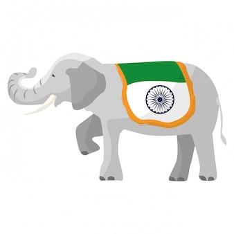 Elephant india flag