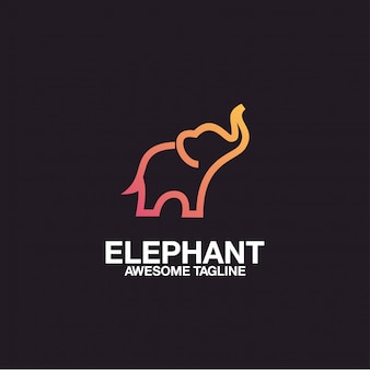Elephant logo design awesome