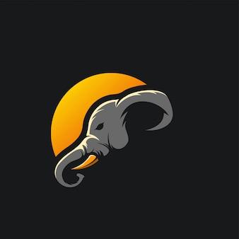 Elephant logo ilustration