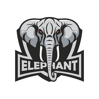 Elephant logo mascot sport illustration