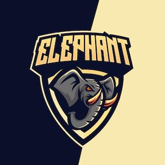 Elephant mascot esport logo